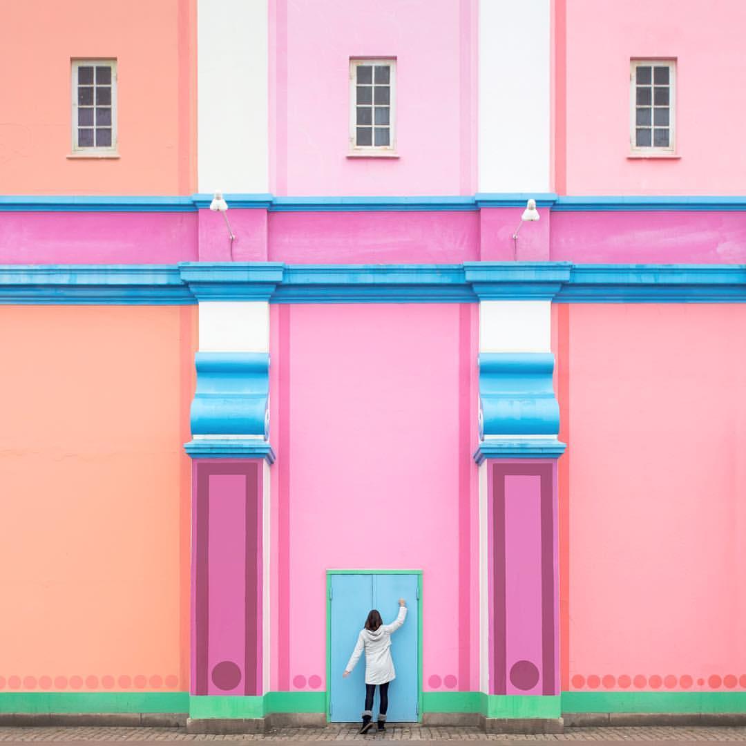 casa tonos pastel fotografía arquitectura