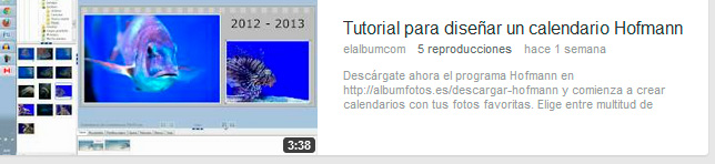 Tutorial calendario Hofmann
