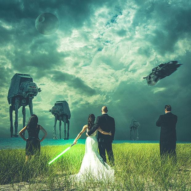 fotos de boda temática: star wars
