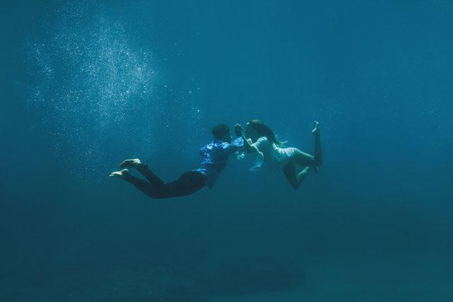 fotos boda bajo el agua