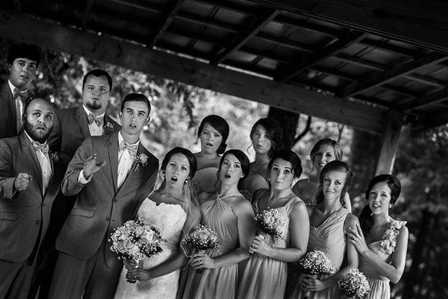 foto alternativa de una boda