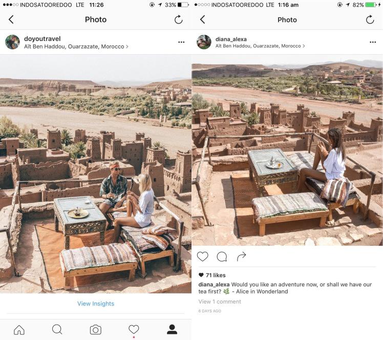 Copy IG Do you travel Ouarzazate