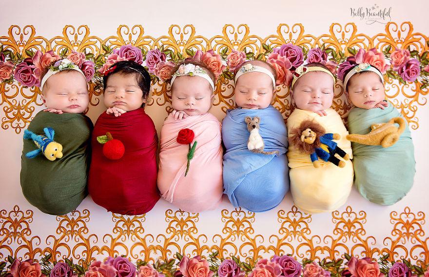princesas disney sesión fotos album digital bebés