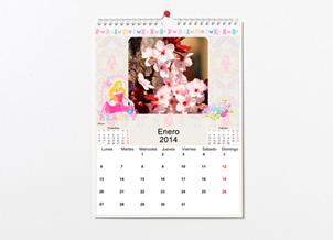 Calendario de las princesas Disney. Ideal para el cuarto de las niñas